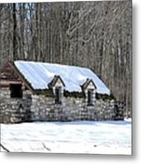 Snow On The Roof Metal Print
