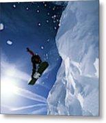 Snowboarding In Lake Tahoe Metal Print