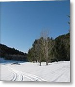 Snowmobile Tracks Metal Print
