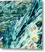 Sodium Thiosulphate Crystals In Polarized Light Metal Print