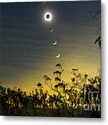 Solar Eclipse Composite, Queensland Metal Print