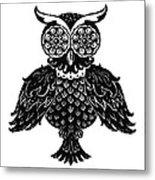 Sophisticated Owls 1 Of 4 Metal Print