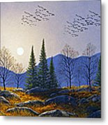 Southern Migration By Moonlight Metal Print