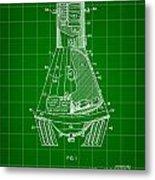 Space Capsule Patent 1959 - Green Metal Print