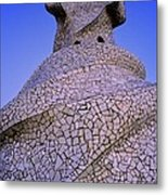 Spain. Barcelona. Mil� House Or The Metal Print