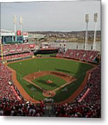 St. Louis Cardinals Vs. Cincinnati Reds Metal Print