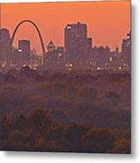 St Louis Skyline And Arch Metal Print