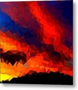Stained Glass Sunset Metal Print