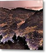 Starry Night Landscape Metal Print