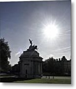 Statue Of Angel Of Peace Atop The Wellington Arch Metal Print