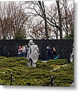 Statues Of Soldiers At A War Memorial Metal Print