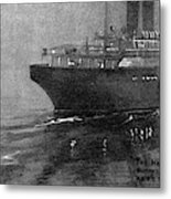Steamship Accident, 1914 Metal Print