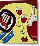 Strawberry Wine Metal Print