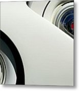 Streamlined In White Metal Print