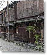 Street In Kyoto Japan Metal Print