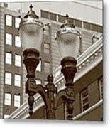 Streetlights - Lansing Michigan Metal Print