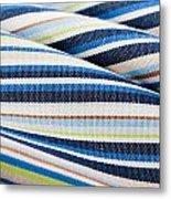 Striped Material Metal Print