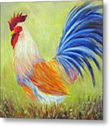 Strutting My Stuff, Rooster Metal Print