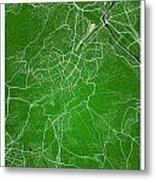 Stuttgart Street Map - Stuttgart Germany Road Map Art On Colored Metal Print