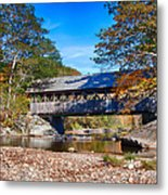 Sunday River Covered Bridge Metal Print