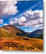 Sunny Day At Rest And Be Thankful. Scotland Metal Print