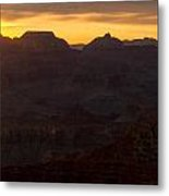 Sunrise At The Grand Canyon Metal Print