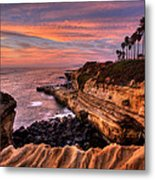 Sunset Cliffs Metal Print by Peter Tellone