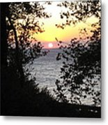 Sunset In Samothraki Metal Print