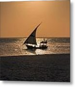 Sunset In Zanzibar Metal Print
