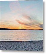 Sunset On South Bay, Lake Superior Metal Print