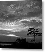 Sunset Over Colington Island On The Outer Banks Of North Carolina Metal Print