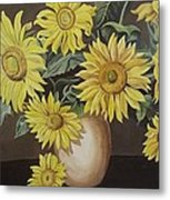 Sunshine And Sunflowers Metal Print