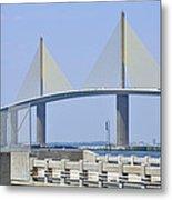 Sunshine Skyway Bridge I Tampa Bay Florida Usa Metal Print