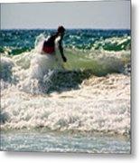 Surfing In California Metal Print
