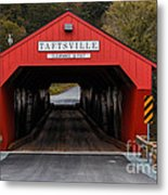 Taftsville Covered Bridge Vermont Metal Print
