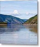Taiga Hills At Yukon River Near Dawson City Metal Print