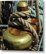 Tall Ship Rigging Metal Print