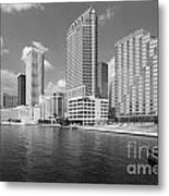 Tampa Skyline From Hillsborough River Metal Print