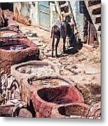 Tannery In Fes Metal Print