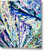 Tartaric Acid Crystals In Polarized Light Metal Print