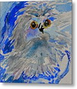 Teacup Owl Metal Print