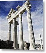 Temple Of Apollo In Side Metal Print