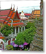 Temple Of The Dawn-wat Arun In Bangkok-thailand Metal Print