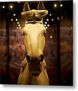 Terracotta Soldiers. The Horse Metal Print
