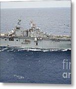The Amphibious Assault Ship Uss Essex Metal Print