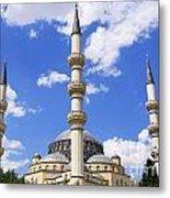 The Azadi Mosque At Ashgabat In Turkmenistan Metal Print