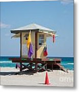 The Beach In Hollywood Florida Metal Print