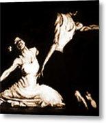 The Dancers-sepia Metal Print