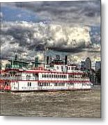 The Dixie Queen Paddle Steamer Metal Print