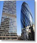 The Gherkin Building In London England Metal Print